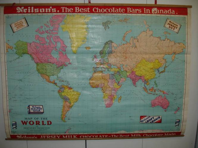Neilson chocolate bar blackboard school map 1953 or older for sale neilson chocolate bar blackboard school map 1953 or older gumiabroncs Choice Image