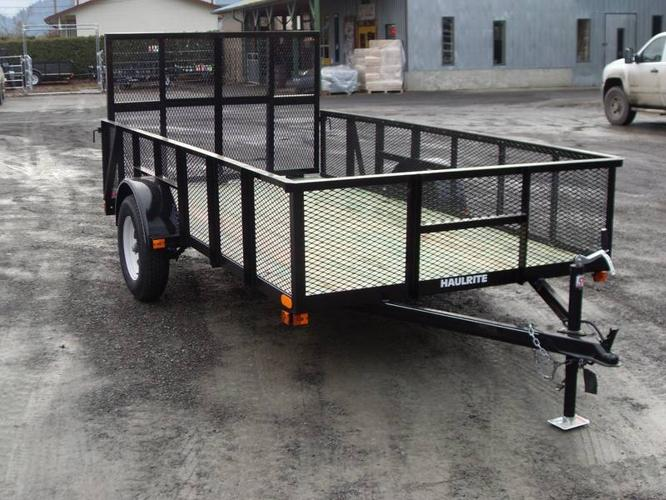 NEW 6'x12' HIGH SIDE UTILITY LANDSCAPE TRAILER