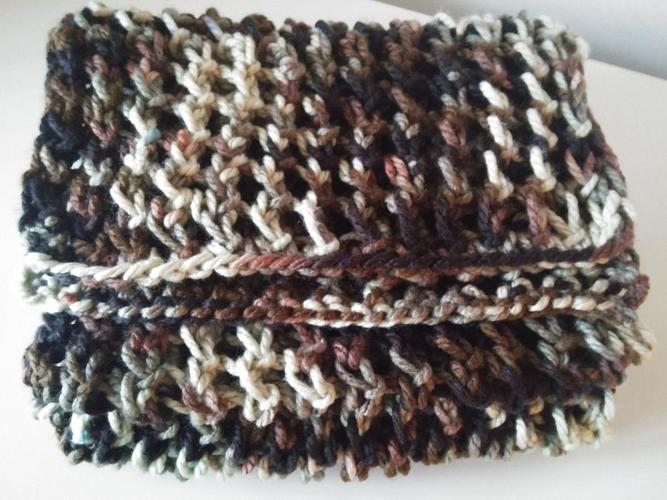 NEW Handmade knitted lady scarf, camouflage