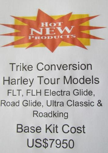 NEW Trike Conversion for Harley Davidson Tour Models