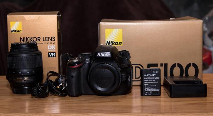 Nikon d5100 and 18-55mm lens