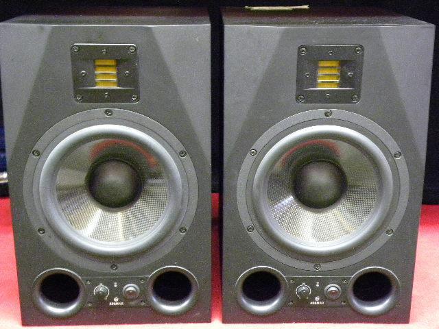 Pair of Adam Audio A8X powered studio monitors