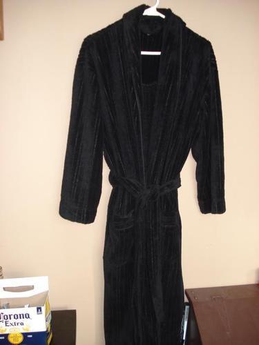Pierre Cardin black housecoat -  Size S