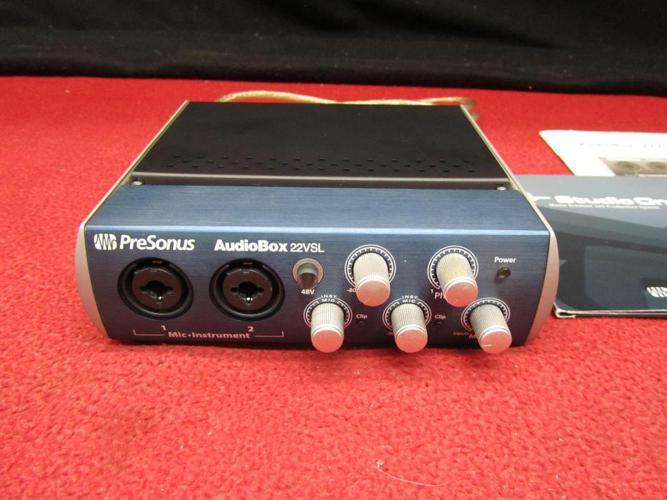 PreSonus AudioBox 22VSL USB 2.0 audio midi interface with usb