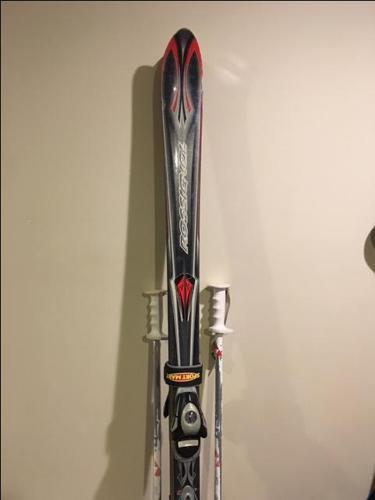 Rossignol Skiis, Bindings, Poles, and Ski Bag