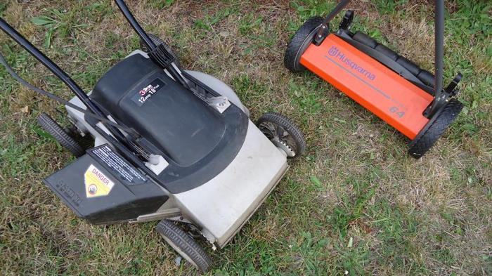 Sears Electric Lawnmower & Husqvarna Push Lawnmower