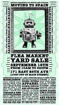 Sept 15th Flea Market / YARD SALE - Artists moving to Spain Sale