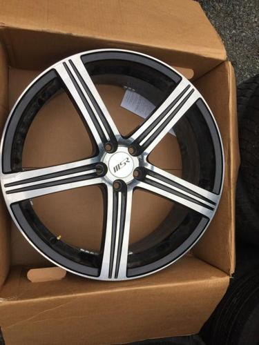 Set of 4   20INCH MSR Canyon Black wheel 5on 115MM bolt pattern