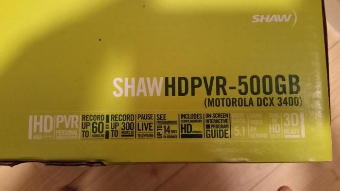 Shaw PVR box