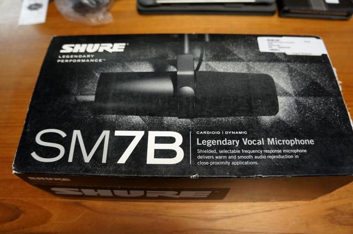 Shure SM7B Legendary Vocal Microphone (198028-3)