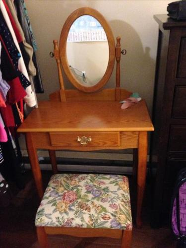 Small Vanity and Display Cabinet