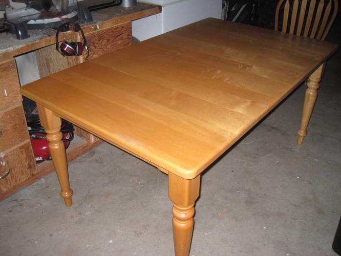 incredible solid maple diningkitchen table and 6 chairs for sale in victoria 666 x - Maple Kitchen Table