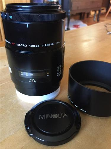 Sony A mount Minolta Maxxum 100mm 2.8 Macro