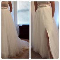 Stunning wedding skirt