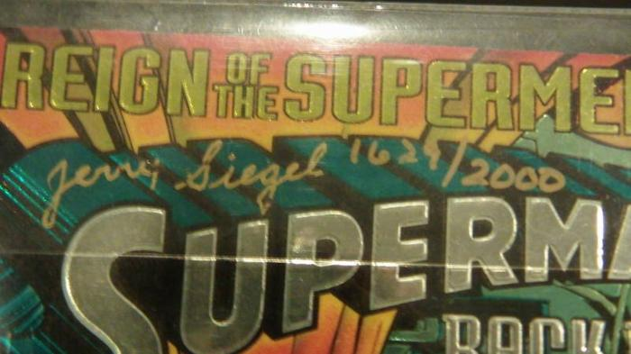Superman Comic Signed by Jerry Siegel (Only 2000)