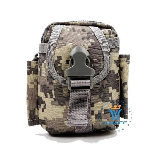 Tactical Military Molle Utility Belt Waist Phone Pouch Bag - Camouflage