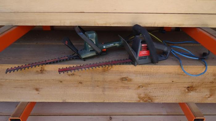 Two Electric Hedge Trimmers