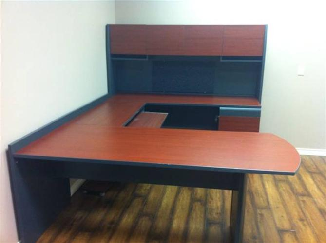 U shape desk - complete private office solution