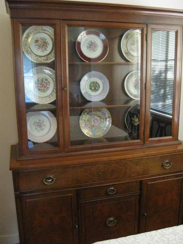 Vintage Dining Suite - Table, Chairs, Buffet and Hutch