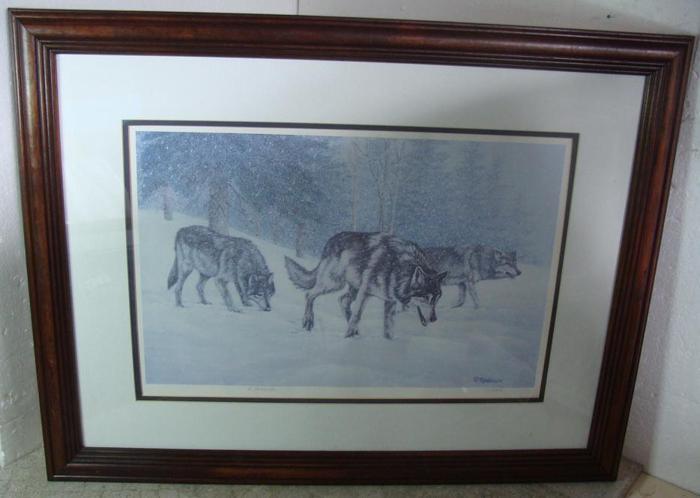 Vintage Richard De Wolfe framed print Following the Scent