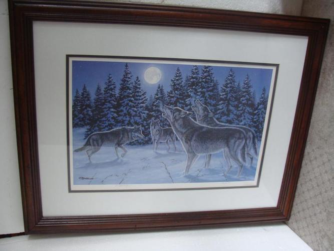 Vintage Richard De Wolfe framed print The Howling,