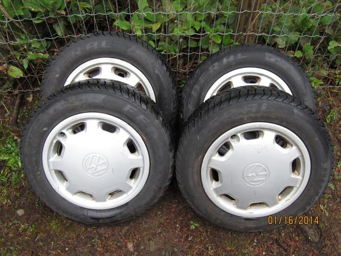 "VW  14"" 4 BOLT WINTER WHEELS"