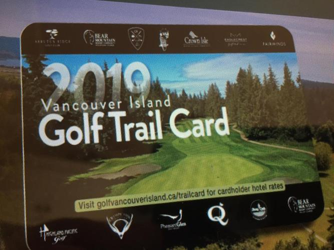 WANTED. Vancouver Island golf trail cards