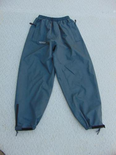 Wetskins Grey Water and Wind Proof Rain Pants Childrens Size 14 Youth