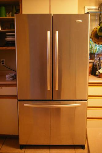 Whirlpool Gold Stainless Steel Fridge French Doors