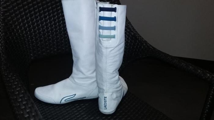 White Leather LaCoste Boot