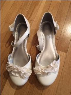 White size 1 girls shoes