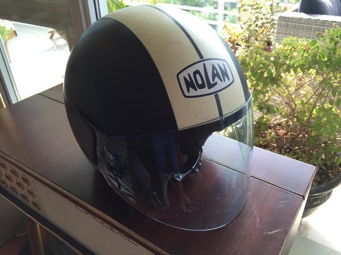 Wicked NOLAN N30 Retro Lava Grey motorcycle scooter Helmet!