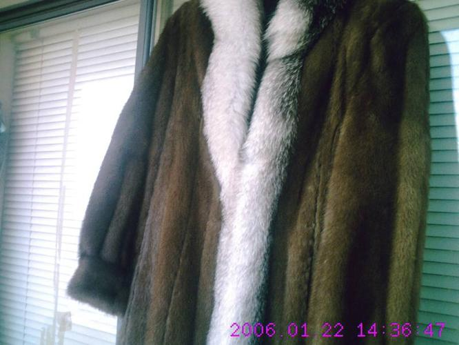Winters Coming,Stay Warm, Mink Coat size 14.