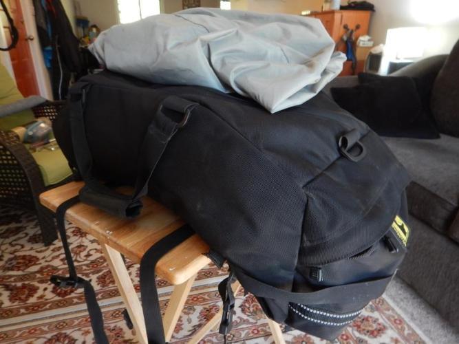 Wolfman Soft luggage Straddlebag.