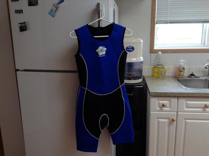 Woman's water wet suit