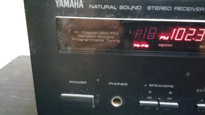 YAMAHA AM/FM/RECEIVER HOME AMP.WORKS GREAT LOTS OF POWER