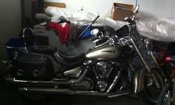 Tan, gold bike, 1700 cc, about 48 000 km on it, brand new white wall tires, great sounding bike, loud but not too loud, drives amazing This ad was posted with the Kijiji Classifieds app.