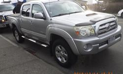 Make Toyota Model Tacoma Year 2007 Colour silver kms 197000 Trans Automatic 2007 tacoma trd off rd sport Quad cab ,,4 wheel drive , 5 speed auto , has tuxedo toneau cover , bed mat hood visor . mostly hiway between Victoria and Courtney , 4.0 V6 new plugs