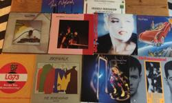 See picture. A mix of 10 different pop/ rock records for $20.