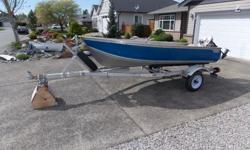 The boat sits on an All Speed aluminium trailer equipped with a new axle, bearings, tires and wheels. Trailer has new u bolts etc due to rebuild. Included in this offer is a 6 Johnson Sea Horse and the minn kota 24 thrust electric motor but no battery. It
