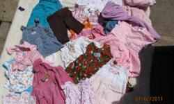 I have a huge bag of girls clothes - 12 months   You will have to pick up - located in Innisfail