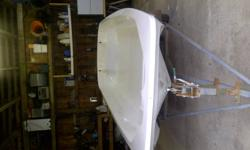 13' boston whaler sport.JUST DROPPED PRICE. awsome boat has new foam and deck fiberglassed in and two brand new swivel seats. comes with a trailer, i started this little project and picked up another boat just after and I really dont need two boats so