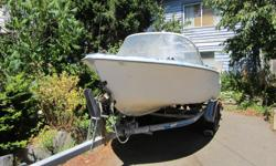 $1000 14.5 ft K + C Thermoglass 40 HP Mariner runs good good trailer 14.5 ft Hourston 50 HP Evinrude needs points good trailer available 4 Scotty downriggers and weights Depth Sounders Anchors, chain and rope Crab traps fishing rods fishing gear