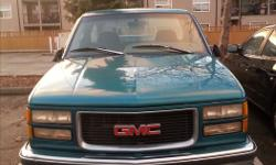 Make GMC Model Sierra 1500 Year 1995 Colour GREEN kms 350000 Trans Automatic 95 SIERRA PICK UP HIGH K BUT WELL MAINTAINED AS YOU CAN SEE BY THE PICTURES CD/AM/FM/CASSETT CRUISE CONTROL AUTOMATIC TRAIER HITCH 2W DRIVE WONT LAST LONG CALL ALEXANDER