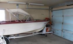 I have a registered 15.5 ft. hourstan boat motor & trailor, with a 2000-60 hp motor with power trim and a 3.5 hp nissan. kicker air cooled canvas top & boat cover -bilge pump & set up for down rigger's-fishfinder or (OBO)