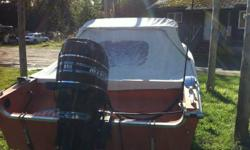 85 merc power trim never been in salt water trailer included phone#250-245-4320 cell#250-668-9894