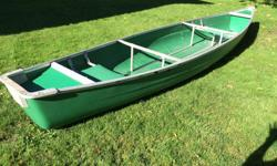 15 ½ ft Coleman Scanoe, good condition. 2 paddles & 2 life jackets included. Minn Kota 40lb thrust electric motor with Kirkland Deep Cycle Marine RV Battery (750 Marine amps/115 amp hours) also for sale $200. Will sell as package for $550 if still