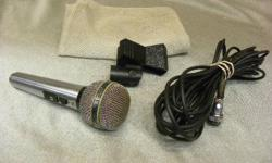 Price including GST & PST Tax : $88 Description : Brand : Shure Type : Unisphere microphone Features : Vintage professional entertainer microphone, dynamic, cardioid, unidirectional, high impedence 50 to 13,000 Hz with cable and holder Model: PE585