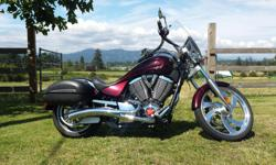 1634 CC - 100 Cubic inch 6 Speed 2008 VICTORY VEGAS MIDNIGHT CHERRY 23,493 KM's - (14,598 Miles) Lady driven, original owner, Immaculate condition, not a mark on it and has had all regular servicing done through Sea-to-Sky Motorsports, Langley. It is a