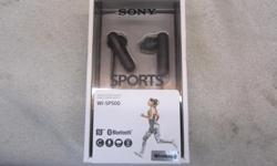 Price including GST & PST Tax : $84=75 + tax Description - Brand : SONY Type : Sports bluetooth wireless in ear headphones Features : wireless bluetooth sound, hands free calling, water resistant, voice assist, extra ear tips, micro usb cable. Model :